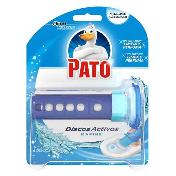 Pato WC dispensador discos activos marine + 6 discos gel