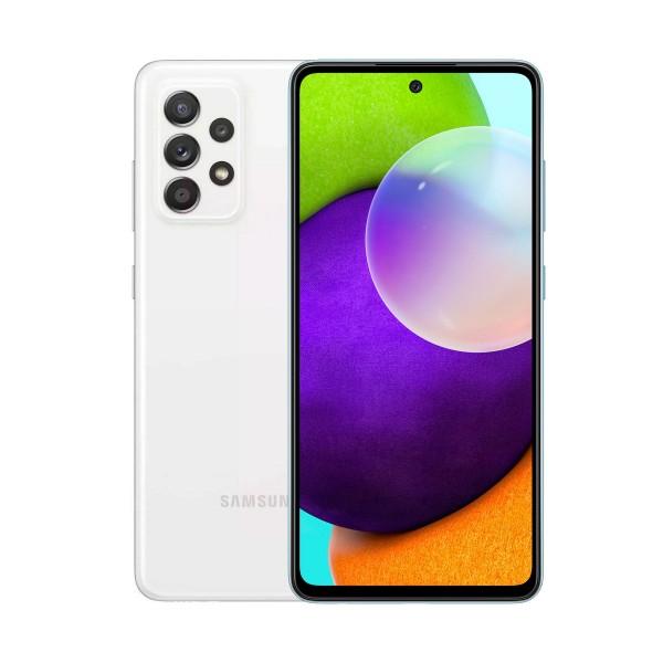 Samsung galaxy a52 a525 blanco móvil 4g dual sim 6.5'' 90hz fhd+ octacore 256gb 8gb ram quadcam 64mp selfies 32mp