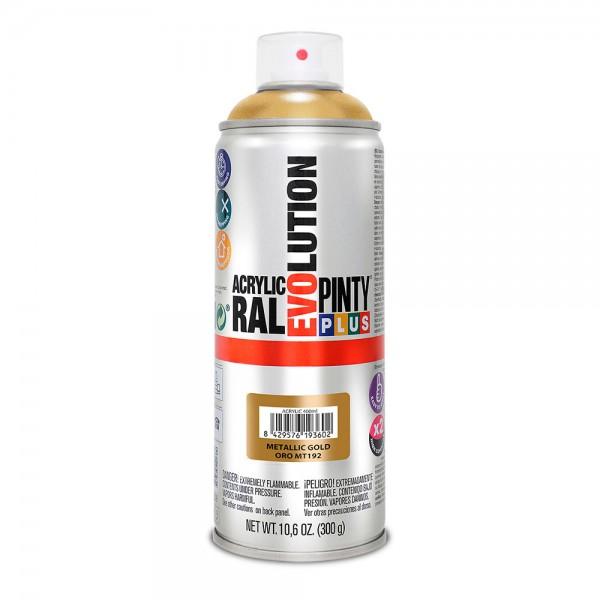 Pintura en spray pintyplus evolution metalizada 520cc oro mt192